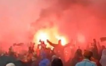 The atmosphere outside Anfield is absolutely bonkers