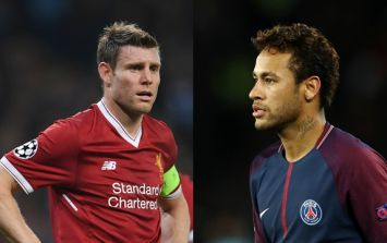 James Milner has broken a Champions League record held by Neymar