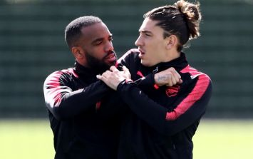 Hector Bellerin hits back at claims he clashed with teammate in training