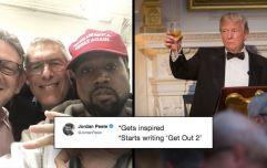 Kanye West's tweets endorsing Trump have inspired Jordan Peele to start writing Get Out 2