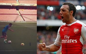 Arsenal fans are delighted as Santi Cazorla returns to The Emirates pitch