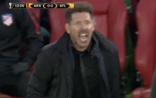 Viewers think they know the insult Diego Simeone shouted at the referee against Arsenal