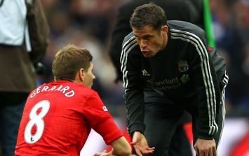 Jamie Carragher and Steven Gerrard had an early test for new Liverpool arrivals