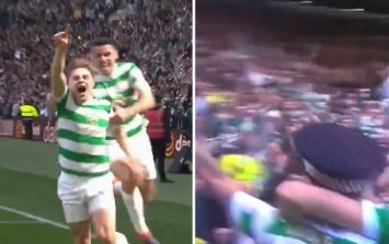 Celtic player used a police officer's hat during goal celebration against Rangers