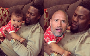 Kevin Hart responds to The Rock's baby picture with hilarious new photoshop
