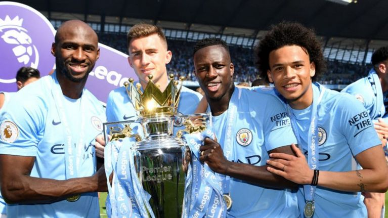 Eliaquim Mangala mocked for appearing at Manchester City's title presentation