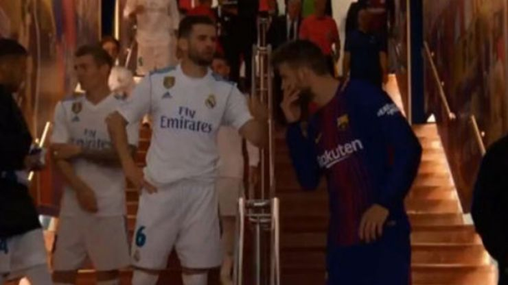 Here's what Nacho said to Gerard Pique in the tunnel at half-time