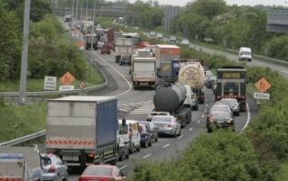 Bank holiday traffic was so bad that people started playing Twister
