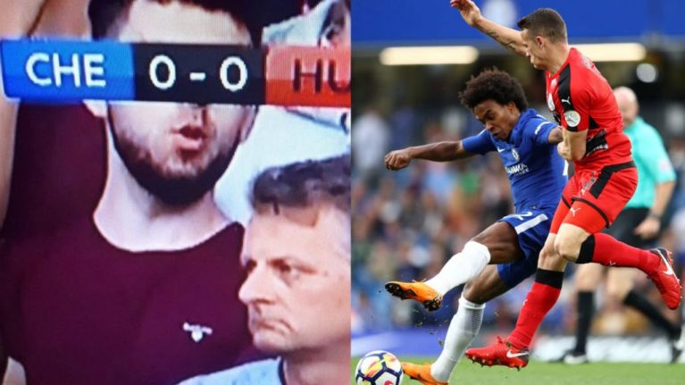 Football fans loved seeing 'The Mask of Zero' in the Stamford Bridge crowd