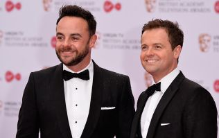 Dec Donnelly takes to BAFTA stage to accept award without Ant McPartlin
