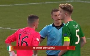 Irish keeper sent off during penalty shoot out in farcical circumstances