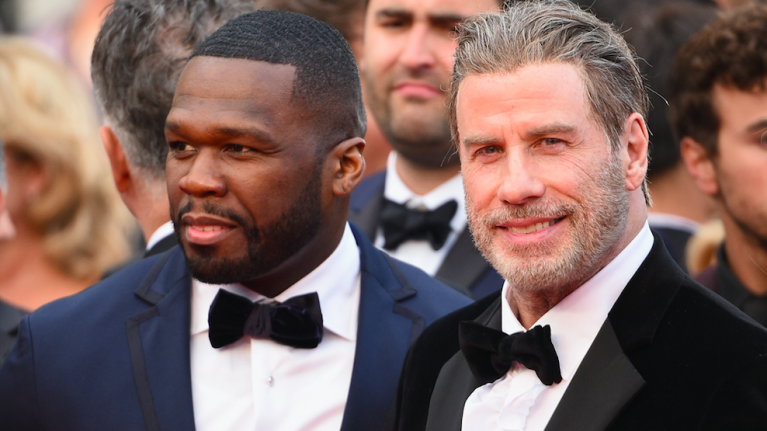 John Travolta joined 50 Cent on stage last night and it was hilarious