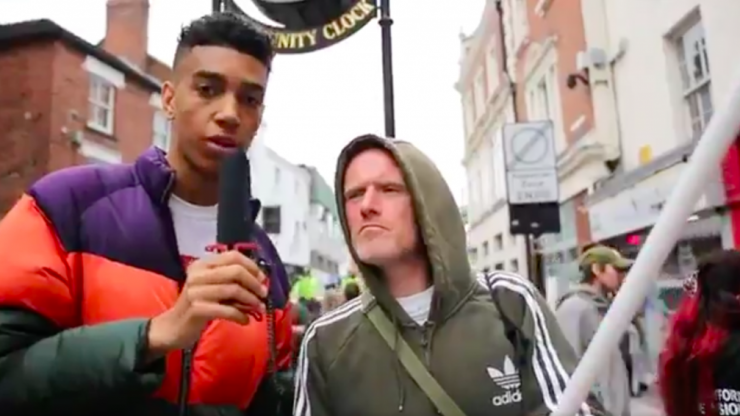 Man goes 'undercover as a racist' at an EDL march and absolutely rinses them