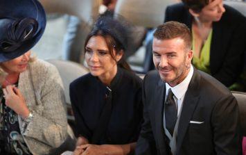 David Beckham broke church etiquette at the royal wedding