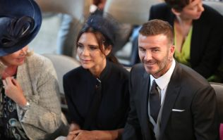David Beckham broke church etiquette at the royal wedding