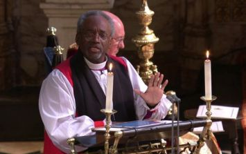 The royal family's faces during Bishop Michael's sermon were hilarious