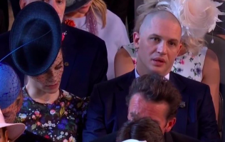 Tom Hardy turned up bald to the royal wedding and you can imagine the response