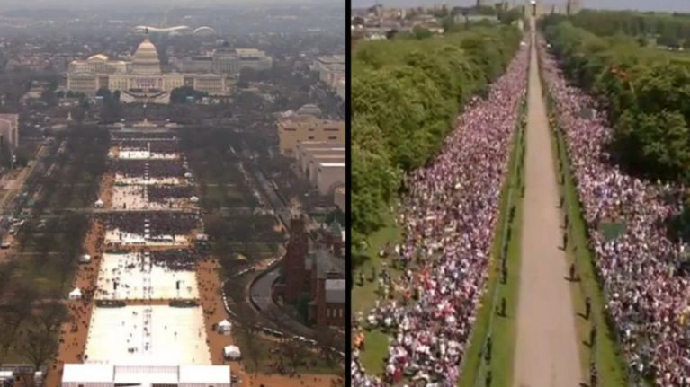 BBC trolls Trump over inauguration crowd size in royal ...