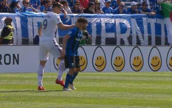 Zlatan Ibrahimovic sent off via VAR for striking opponent