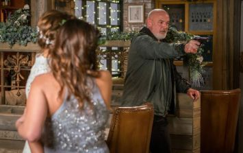 Pat Phelan will shoot an innocent victim and take a wedding hostage in Corrie