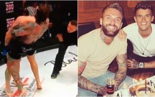Geordie Shore's Aaron Chalmers makes Bellator debut and chokes opponent out cold
