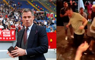 WATCH: Nothing to see here, just Jamie Carragher dancing with Liverpool fans in Kiev