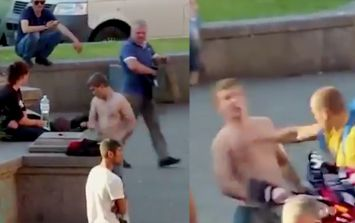 Man knocked out after 'trying to fight Liverpool fans' in Kiev