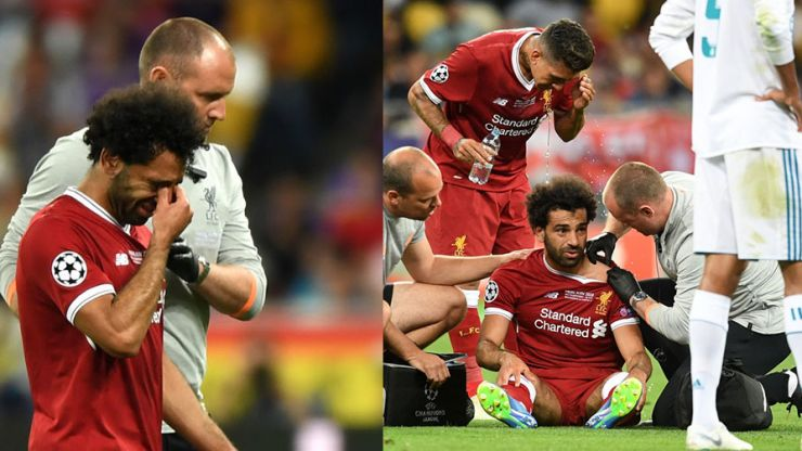WATCH: Mo Salah leaves field in tears after injury in Champions League final