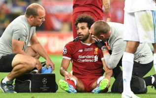 Mo Salah has suffered a suspected dislocated shoulder