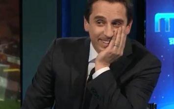Gary Neville rejigs 'Allez, Allez, Allez' chant to rub it into Liverpool fans