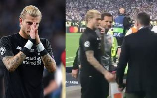 WATCH: Jamie Carragher consoles heartbroken Loris Karius after Champions League final errors