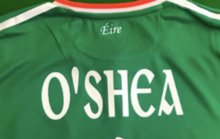 Ireland are replacing the white numbers on their shirts with rainbows colours
