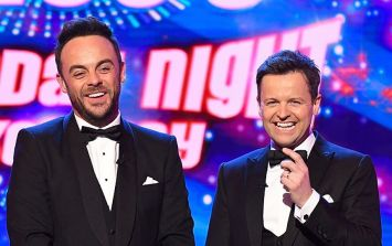 Dec made a subtle joke about missing Ant on Britain's Got Talent