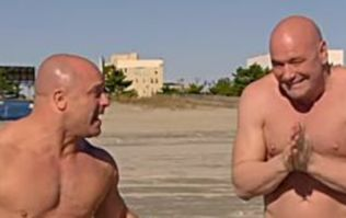 Matt Serra's reaction to Dana White's shameless shirtless photo was absolutely priceless