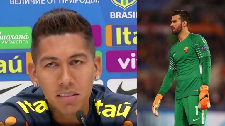 Roberto Firmino confirms Alisson has asked him about a move to Liverpool