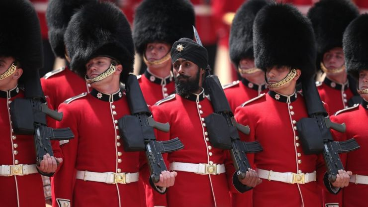 Sikh soldier makes history by wearing turban during Trooping the Colour parade