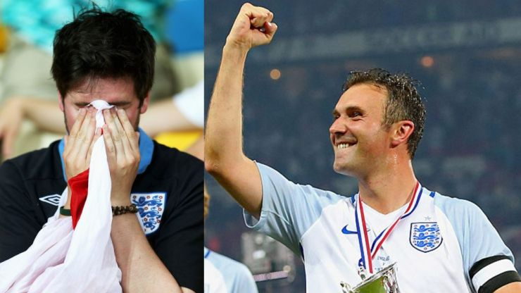 Bitterly disappointed Soccer Aid fans react as they realise Jonathan Wilkes won't be playing