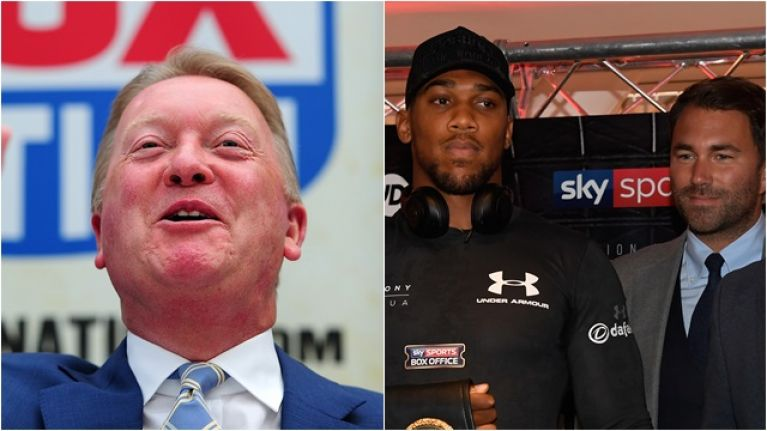 Frank Warren confirms Anthony Joshua's next fight before Eddie Hearn