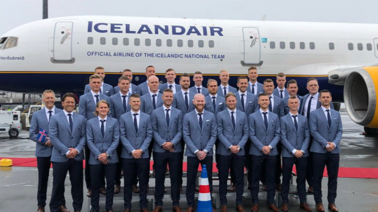 Iceland include Euro 2016 viral traffic cone in official World Cup team photo