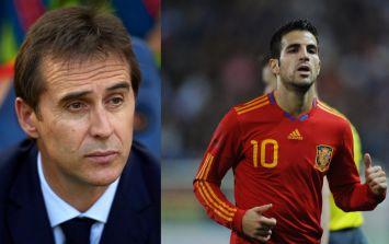 Cesc Fabregas jokes JulenLopetegui's dismissal might help his selection hopes