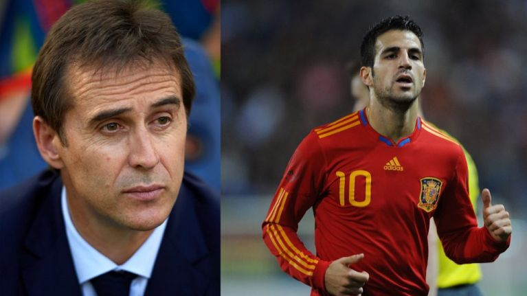 Cesc Fabregas jokes Julen Lopetegui's dismissal might help his selection hopes