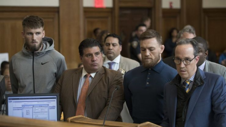 Conor McGregor appears in court to face bus assault charges, apologises forbehaviour