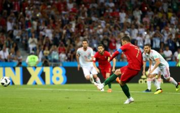 People are divided over whether Cristiano Ronaldo should have been awarded a penalty against Spain