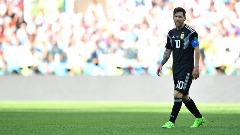 53a3d51c Subtle Lionel Messi tribute from adidas during Argentina vs. Iceland did  not go unnoticed