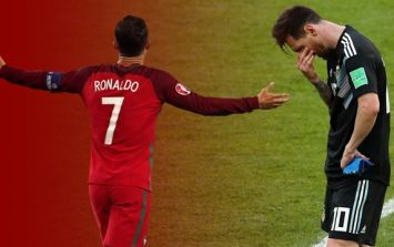 There's a theory that Cristiano Ronaldo was to blame for Lionel Messi's penalty miss