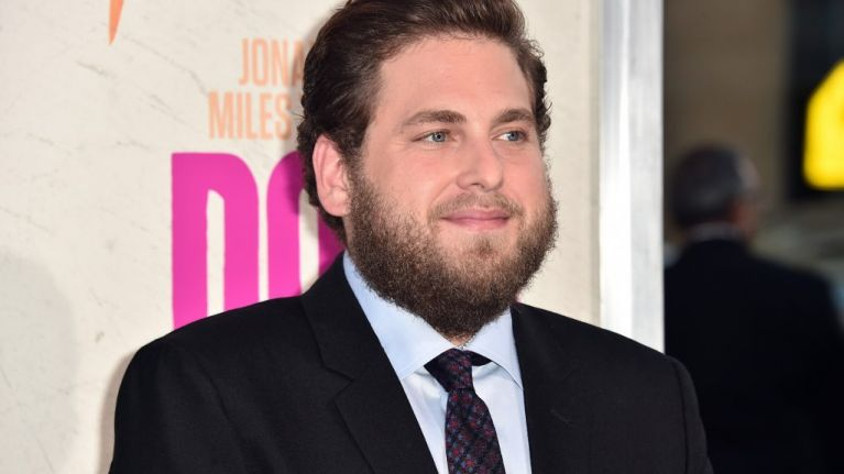 Jonah Hill now has bright pink hair and a tattoo
