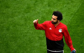 Mo Salah fails to blow out the candles on his massive birthday cake