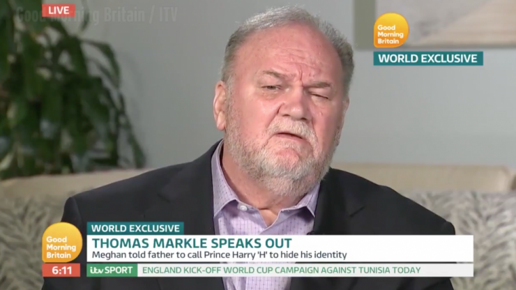 Meghan Markle's dad gives first TV interview since the royal wedding