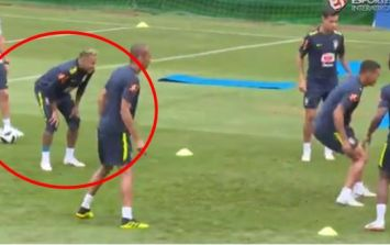 Neymar hobbles out of Brazil training session after 15 minutes