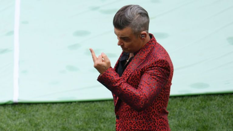 Robbie Williams explains what he meant by World Cup opening ceremony gesture